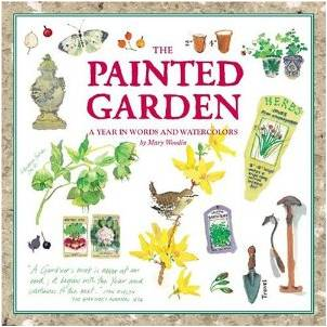 Watercolor Flowers and Gardening in The Painted Garden by Mary Woodin Book Review-My Flower Journal.com