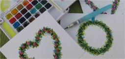 How To Paint A Watercolor Flower Wreath-myflowerjournal.com
