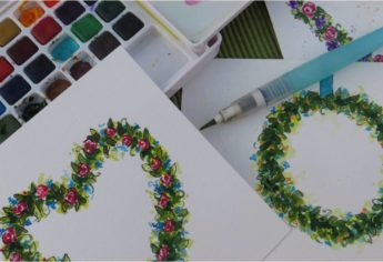 How To Paint A Watercolor Flower Wreath
