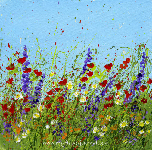 More splattered paint art ideas and tips my flower journal for Simple flower paintings for beginners