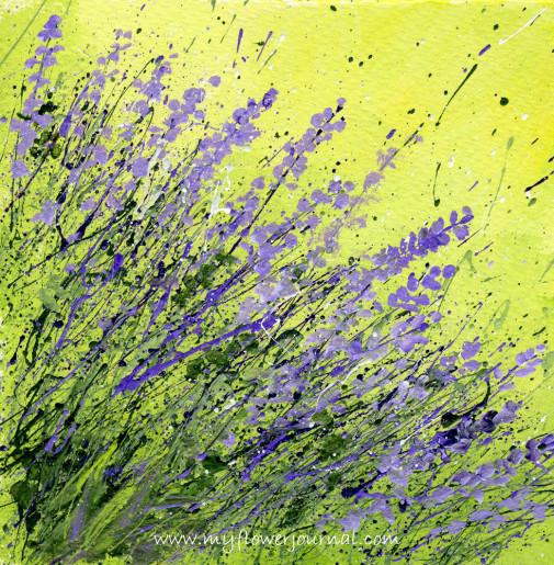 Splattered Paint Flower Art- Lavender-myflowerjournal.com