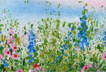 Create A Splattered Paint Flower Garden