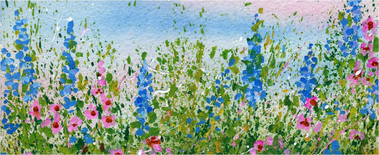 Flower Garden Drawing create a splattered paint flower garden - my flower journal