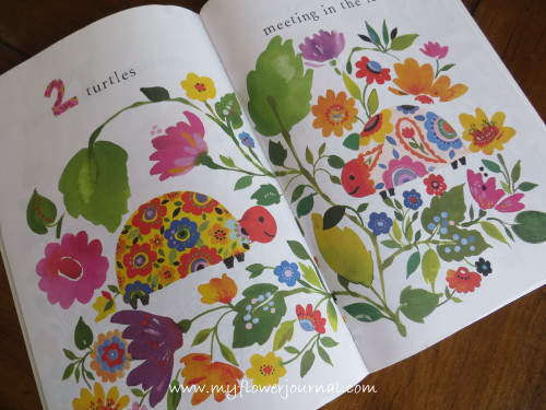 Kim Parker counting book for children with watercolor flowerws-myflowerjournal.com