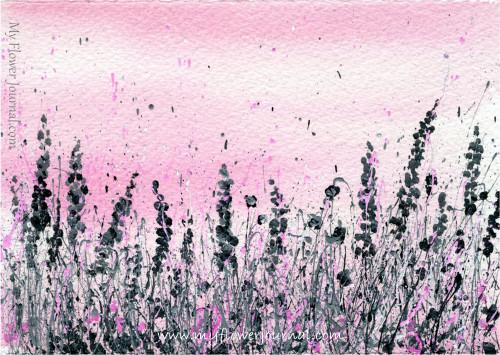 Splattered Paint Flower Art-Summer of Color Challenge-myflowerjournal.com