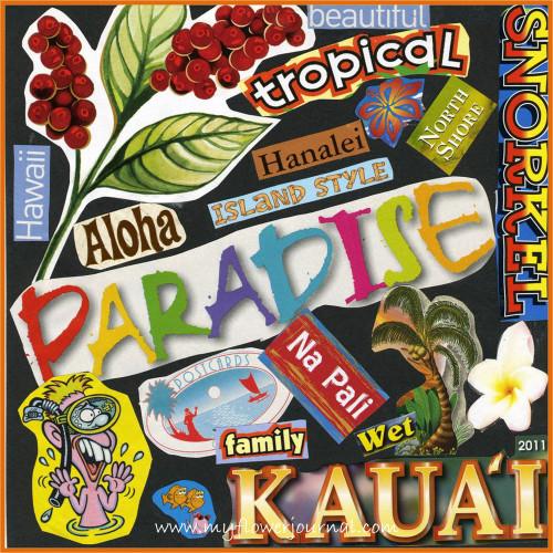 Travel Collage Journal Ideas-Hawaii-myflowerjournal.com