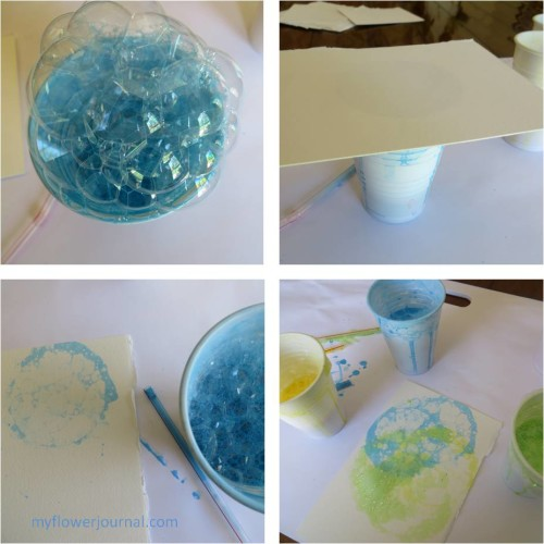 How to Create Bubble Painting Flower Art-myflowerjournal.com