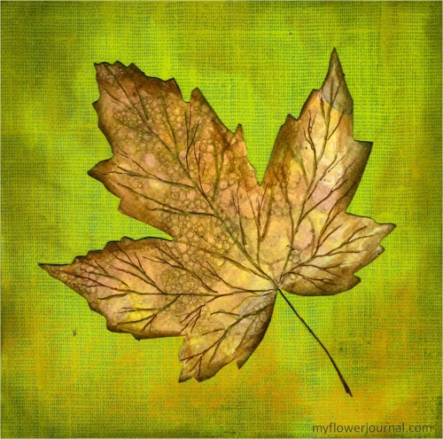 Fall Botanical Bubble Art Tutorial-leaf-myflowerjournal