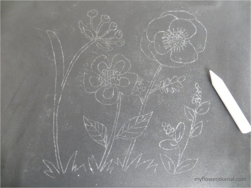 How to do Anthropology inspired chalk art-transfered design-myflowerjournal