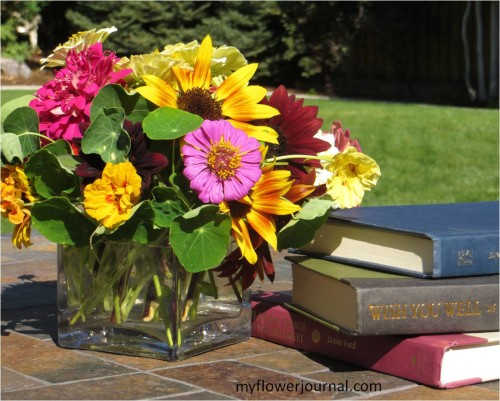 Book Group in Jennifer's Garden-myflowerjournal.com