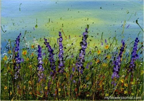 Splatter Painting-wild flower field-myflowerjournal