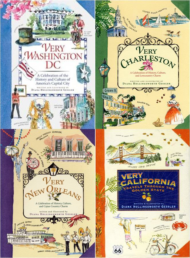 I love these watercolor travel guides by Diana Gessler. I love her watercolor illustrations. The books are delightful to read and look at and full of valuable information for tourists.-myflowerjournal.com