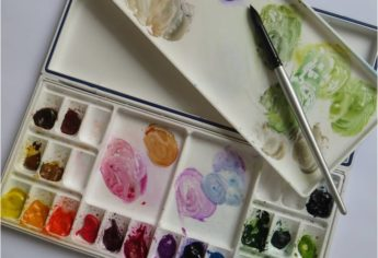 My Watercolor Paint Colors and Palette
