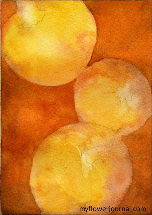 Painting a Pile of Pumpkins in Watercolor-myflowerjournal