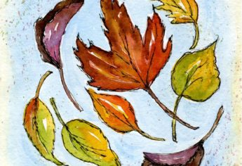 Fall Watercolor Journal Pages and a Recipe