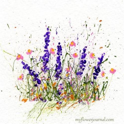 Splatterd Paint Flower Ideas-myflowerjournal