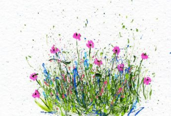 Easy Splattered Paint Flower Art With Markers