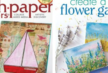 A Published Tutorial: Turn Paint Splatters Into Flowers