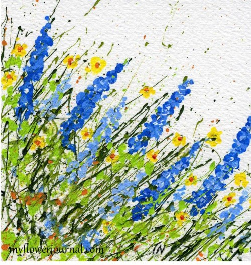 A Differnet Angle on Splatter Painting-myflowerjournal