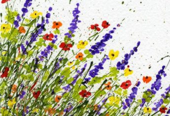 FAQ to Create Splattered Paint Flower Art