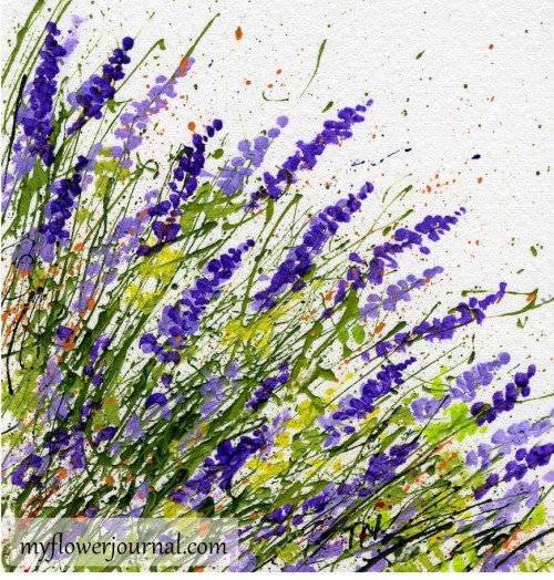 Try a different angle splatter when splatter painting-myflowerjournal.com