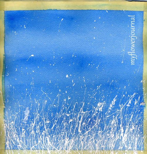 Snowy Landscape With Splattered Acrylic Paint My Flower