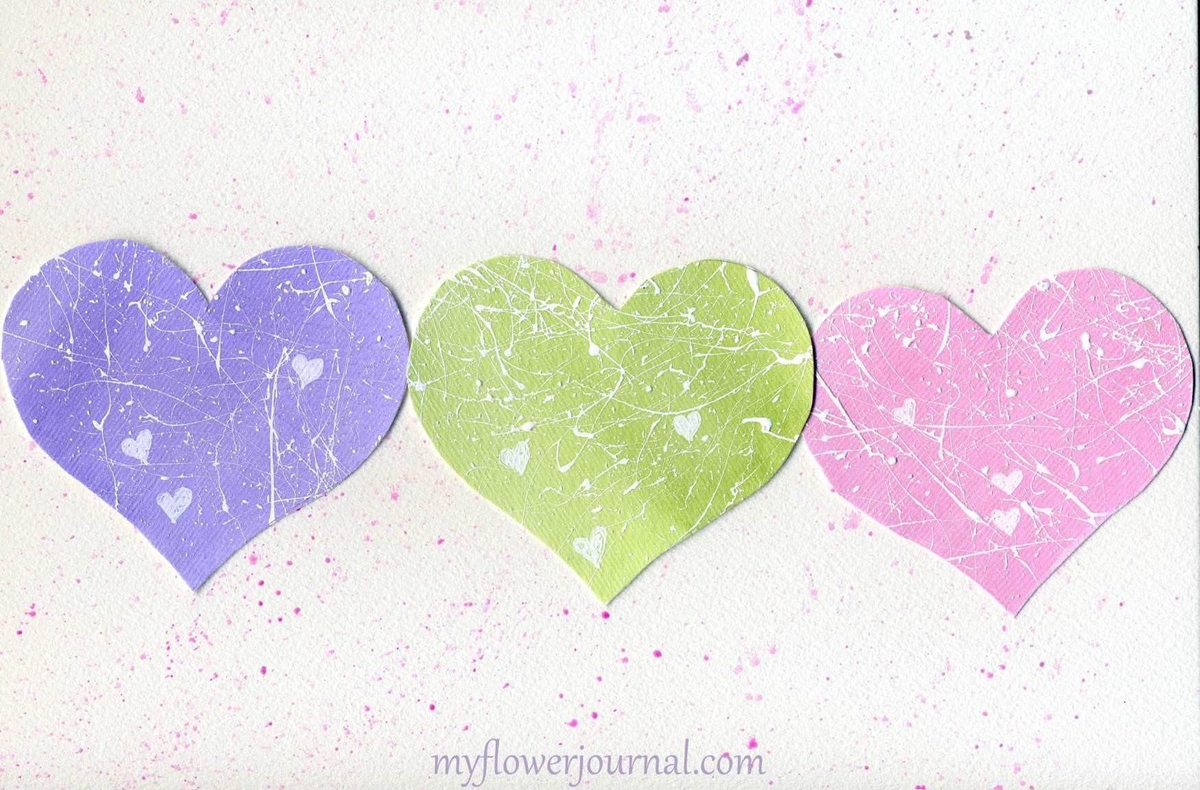 A Pastel Splattered Hearts For