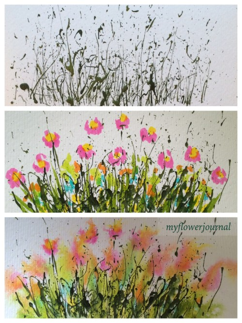 A fun summer art activity my flower journal for Step by step painting tutorial