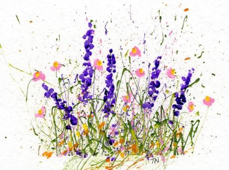 FAQ to Create Splattered Paint Flower Art-myflowerjournal
