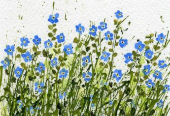 Forget-Me-Not Flower Art and Quote