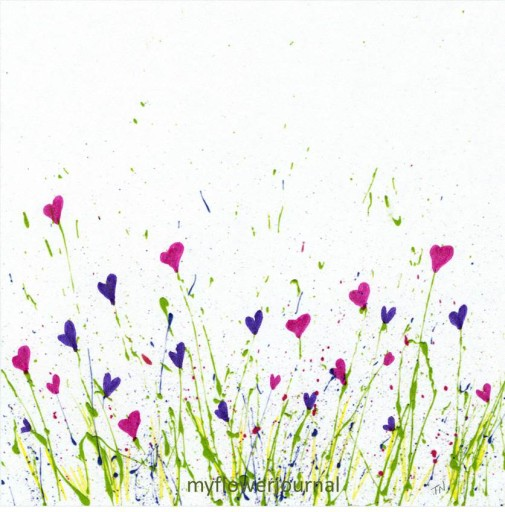Free Splatter Paint Download to print-just add flowers-myflowerjournal