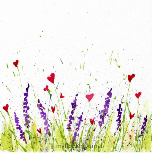 Free Splatter Paint Printable-Just Add Flowers-myflowerjournal