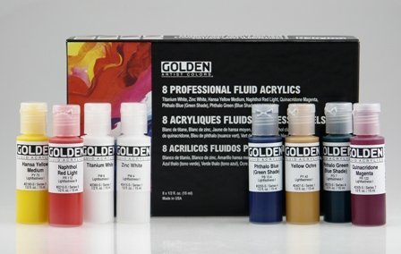 Golden Paint Set