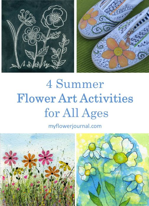 Try these 4 summer flower art activities. They are fun for all ages!