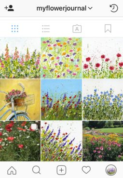 Follow me on instagram for more of my splattered paint flower art and other art projects and discoveries-myflowerjournal