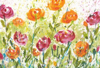 Using Flower Photos for Splattered Paint Art Inspiration