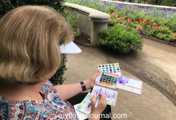 Plein Air Painting In A Garden