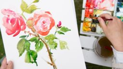 Watercolor Painting in the Garden by Yao Cheng